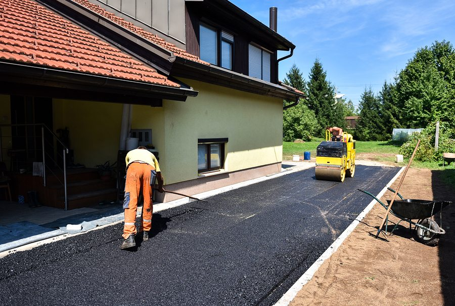 Asphalt driveway enright asphalt concrete snow can you reseal an asphalt driveway yourself solutioingenieria Image collections