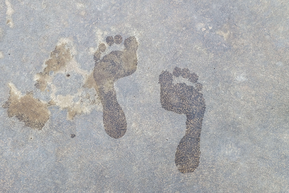 What to do if your feet are stuck in cement