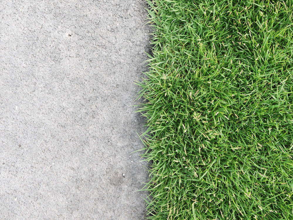 How to replace grass with concrete
