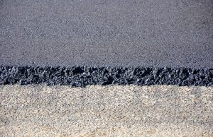 Asphalt on road